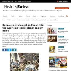 Dormice, ostrich meat and fresh fish: the surprising foods eaten in ancient Rome - HistoryExtra