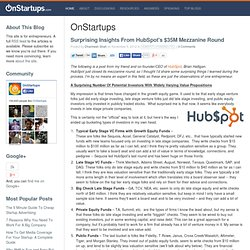 Surprising Insights From HubSpot's $35M Mezzanine Round