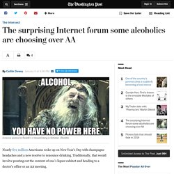 The surprising Internet forum some alcoholics are choosing over AA