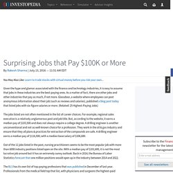 Surprising Jobs that Pay $100K or More