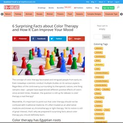 6 Surprising Facts about Color Therapy and How It Can Improve Your Mood - Printable Adult Coloring Pages from Favoreads