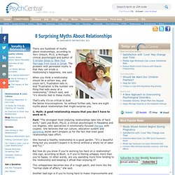 8 Surprising Myths About Relationships