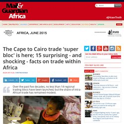 The Cape to Cairo trade 'super bloc' is here; 15 surprising - and shocking - facts on trade within Africa