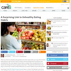 Surprising Link To Unhealthy Eating Habits