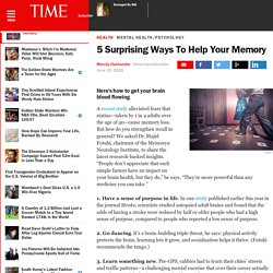 5 Surprising Ways To Help Your Memory