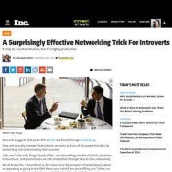 A Surprisingly Effective Networking Trick For Introverts