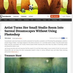 Artist Turns Her Small Studio Room Into Surreal Dreamscapes Without Using Photoshop