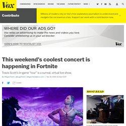 Watch Travis Scott's surreal Fortnite concert tour