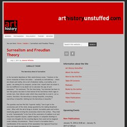 Surrealism and Freudian Theory