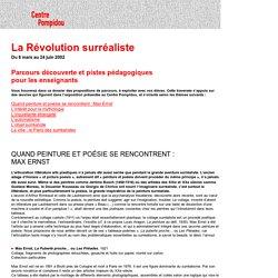 La Révolution surréaliste, parcours découverte et pistes pédagogiques