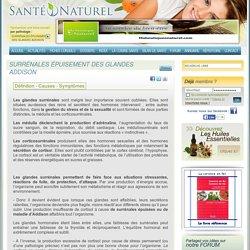 SURRÉNALES ÉPUISEMENT DES GLANDES ADDISON
