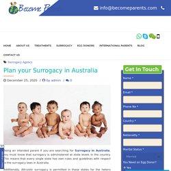 Plan your Surrogacy in Australia