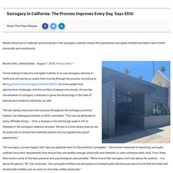 Surrogacy In California: The Process Improves Every Day, Says EDSI «