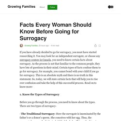 Facts Every Woman Should Know Before Going for Surrogacy