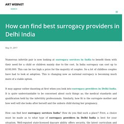How can find best surrogacy providers in Delhi India