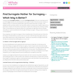 Find Surrogate Mother for Surrogacy – Which Way Is Better? - ART baby Egg Donors ART baby Egg Donors