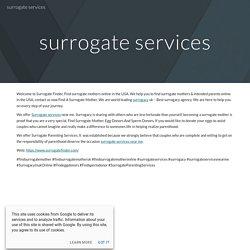 surrogate services