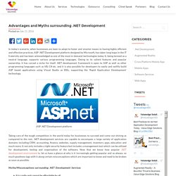 Advantages and Myths surrounding .NET Development - Value Edge Solutions Blog