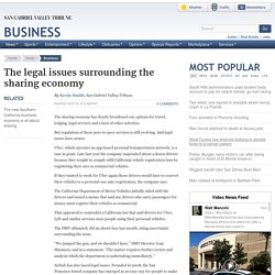 The legal issues surrounding the sharing economy
