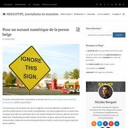Pour un sursaut numérique de la presse belge