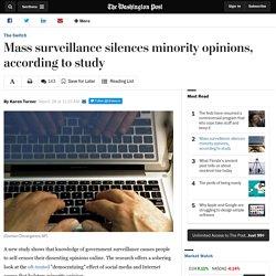 Mass surveillance silences minority opinions, according to study