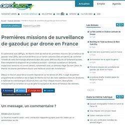 Premières missions de surveillance de gazoduc par drone en France