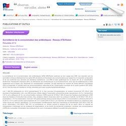 INVS 23/03/16 Surveillance de la consommation des antibiotiques - Réseau ATB-Raisin