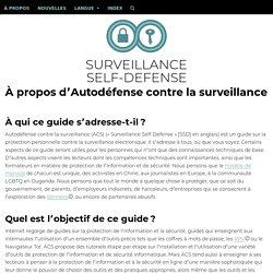 Autoprotection Digitale Contre la Surveillance