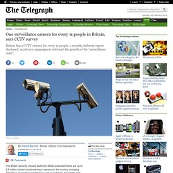 One surveillance camera for every 11 people in Britain, says CCTV survey