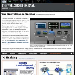 The Surveillance Catalog - The Wall Street Journal