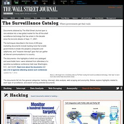 Le catalogue de surveillance - Le Wall Street Journal