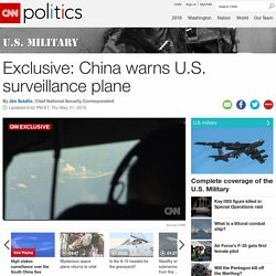 Exclusive: China warns U.S. surveillance plane - CNNPolitics.com