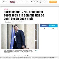 Surveillance: 2700 demandes adressées à la commission de contrôle en deux mois