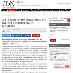 Le b-a-ba de la surveillance réseau des solutions de communication aujourd'hui