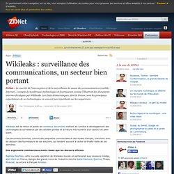 Wikileaks : surveillance des communications, un secteur bien portant