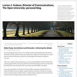 Lucian J. Hudson, Director of Communications, The Open University – personal blog