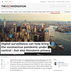 Digital surveillance can help bring the coronavirus pandemic under control – but also threatens privacy