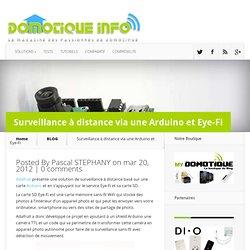 Surveillance à distance via une Arduino et Eye-Fi