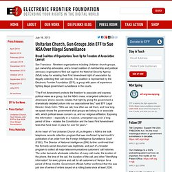 EFF: Unitarian Church, Gun Groups Join EFF to Sue NSA Over Illegal Surveillance