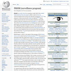 PRISM (surveillance program)
