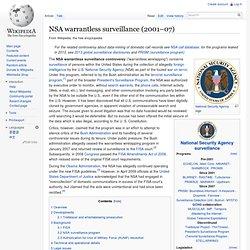 NSA warrantless surveillance (2001–07)