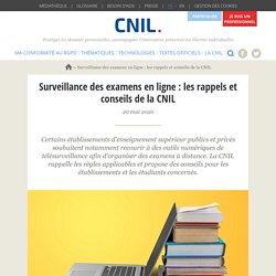Surveillance des examens en ligne : les rappels et conseils de la CNIL