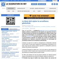 Le Sénat doit rejeter la surveillance généralisée - Paris, le 2 juin 2015