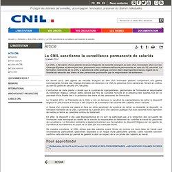 La CNIL sanctionne la surveillance permanente de salariés