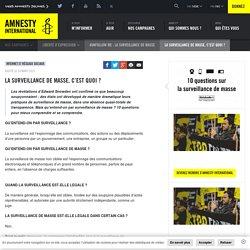 La surveillance de masse, c'est quoi ? - Amnesty International Belgique Francophone