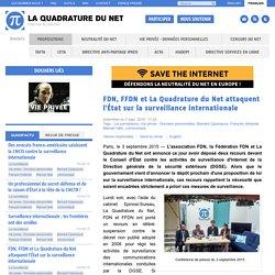 FDN, FFDN et La Quadrature du Net attaquent l'État sur la surveillance internationale