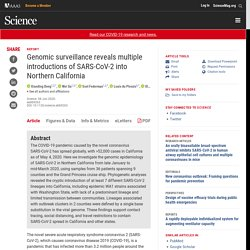 Genomic surveillance reveals multiple introductions of SARS-CoV-2 into Northern California