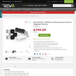 Ultra HD 8 Ch. 1TB NVR Surveillance System with 6 2 Megapixel Cameras