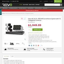 Ultra HD 16 Ch. 4TB NVR Surveillance System with 16 2 Megapixel Cameras