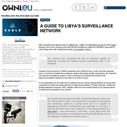 A guide to Libya's surveillance network